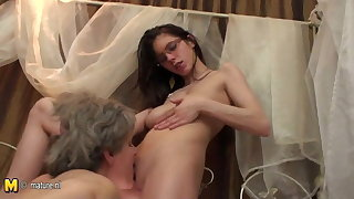 European old and young lesbian love
