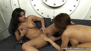 Fabulous pornstars Sunny Leone, Capri Cavanni in Exotic Pornstars, Big Tits adult clip