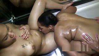 Ashley Sins Daisy Red Ladybug lesbian threesome fuckfest