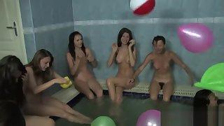 Nude Russian/Ukrainian nude girls bathing pool