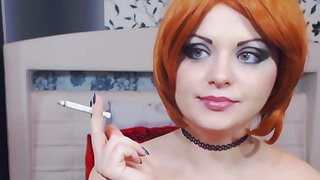 ginger hair anabellaxxx1 smoke fetish