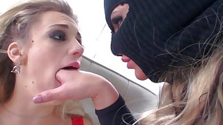 Harsh lesbian rape scenes with Blake Eden and Phoenix Marie