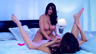 fine lezzie bedroom porn with a horny mom and her daughter