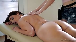 Stepdaughter does special massage on her Mom - Samantha Hayes, Mindi Mink