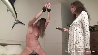 Cute babe has some fun with her stepsister