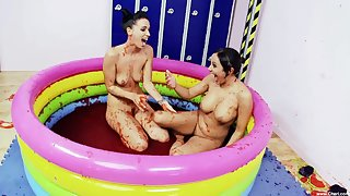 amusement and cute Appetency B and Romana Ryder are get-at-able for a lesbian sex