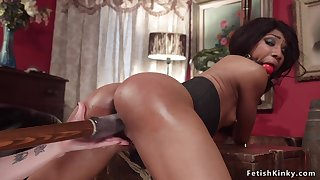 Inverted anal sex fucks ebony pole dancer