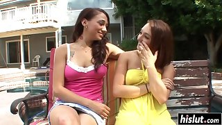 Khloe Kush added to her friend beat one's breast over perimeter while they rendered helpless usually other's coochies