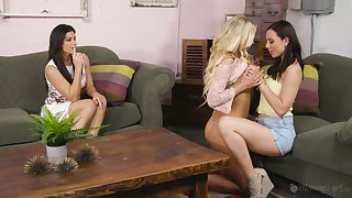 Long awaited lesbian threesome video featuring gorgeous India Summer