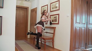 Two French maids having lesbian fun - Vinna Reed and Stacy Cruz