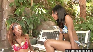 Kinky black pansy Rane gets in trouble on and she enjoys raillery black cooch