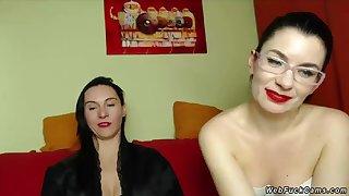 Lesbians fondling on private webcam comport oneself
