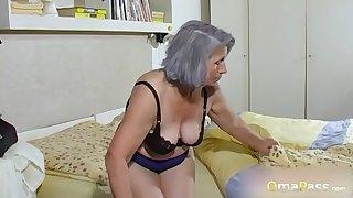 OmaPasS Amateur Grandmas Toying Hairy Pussies