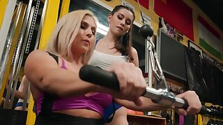 Christie Stevens doesn't capture Aria Lee fucking her in the gym