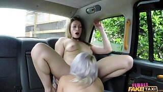 Big-busted Beauteous Licks Her First Pussy